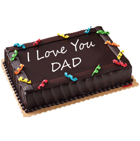 Groovy Online Red Ribbon Fathers Day Chocolate Dedication Cake In Cebu Funny Birthday Cards Online Inifofree Goldxyz